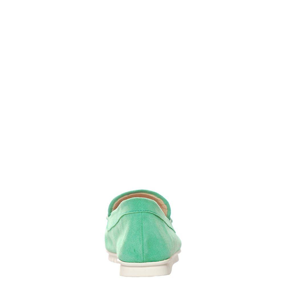 Замшевые лоферы Marino Fabiani зеленого цвета