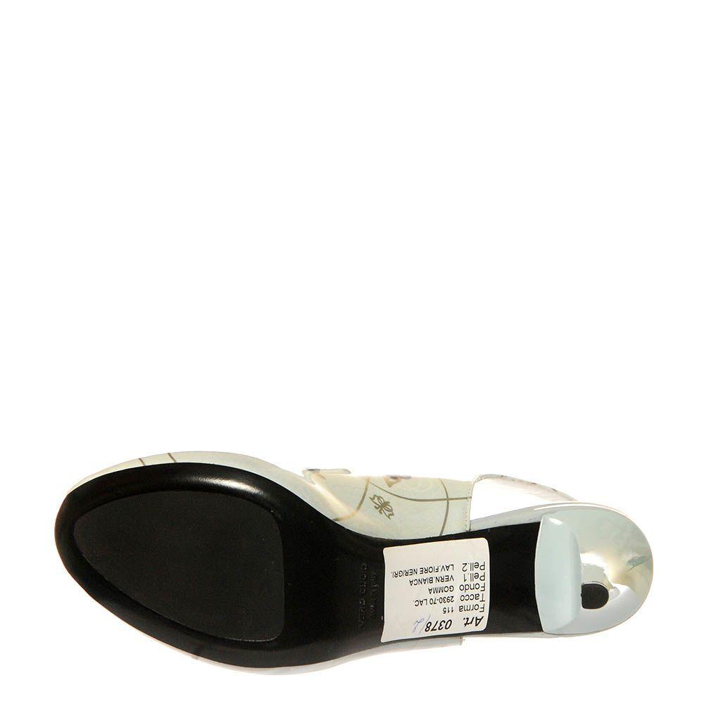 Кожаные босоножки Marino Fabiani серого цвета с открытым носочком