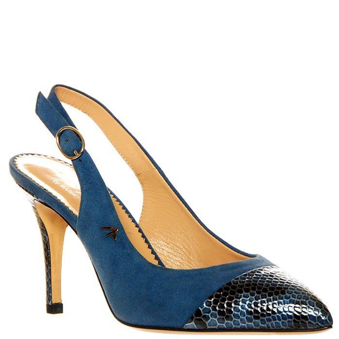 Босоножки Marino Fabiani из натуральной кожи синего цвета