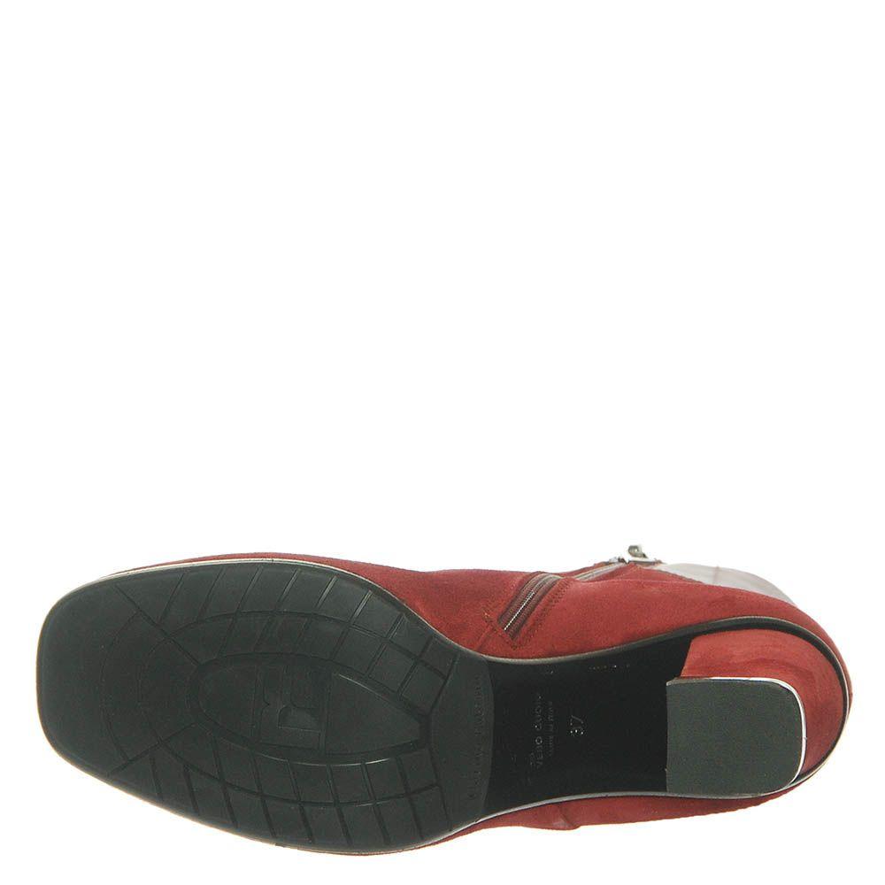 Замшевые ботинки Marino Fabiani бордового цвета