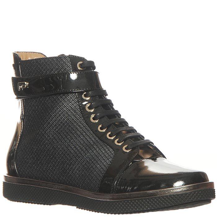 Ботинки кожаные Marino Fabiani черного цвета
