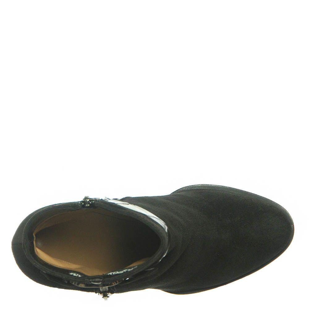 Замшевые ботинки Marino Fabiani черного цвета
