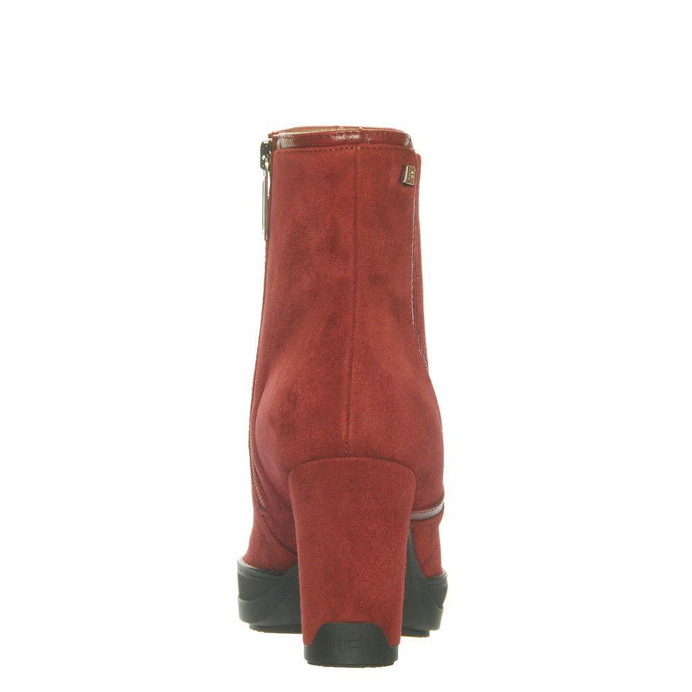 Замшевые ботинки Marino Fabiani красного цвета