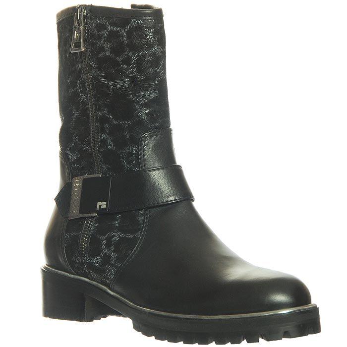Ботинки Marino Fabiani из натуральной кожи черно-серые
