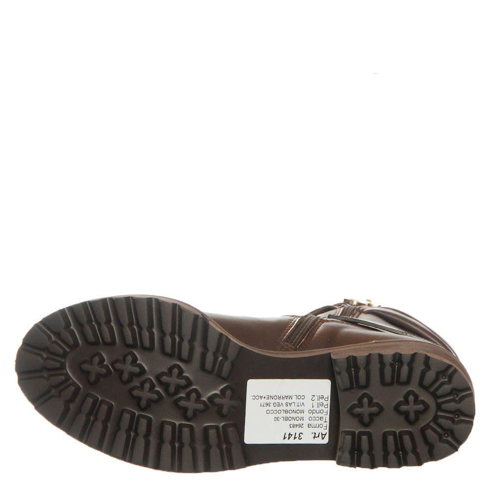 Кожаные ботинки Marino Fabiani коричневого цвета