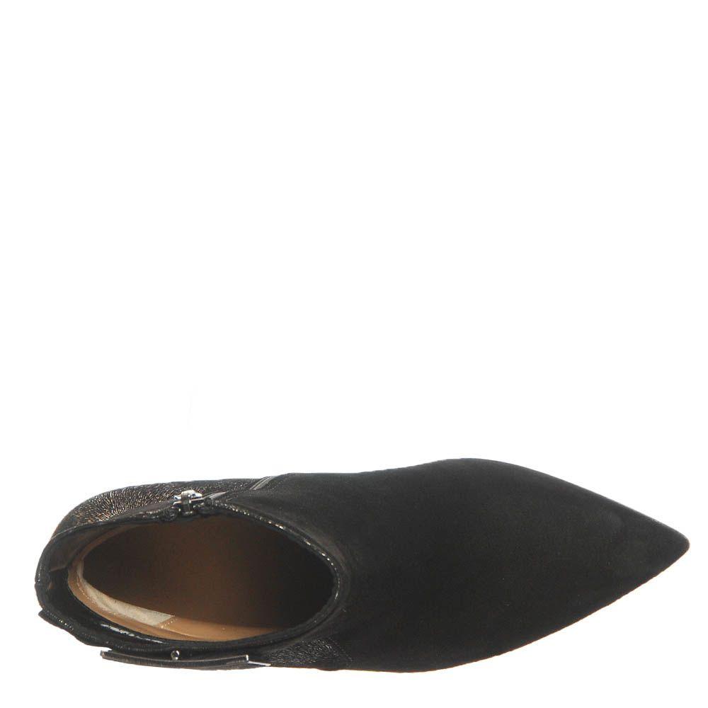 Демисезонные замшевые ботинки Marino Fabiani черного цвета