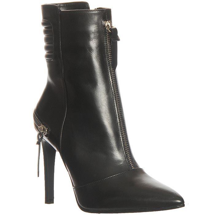 Демисезонные кожаные ботинки Marino Fabiani черного цвета