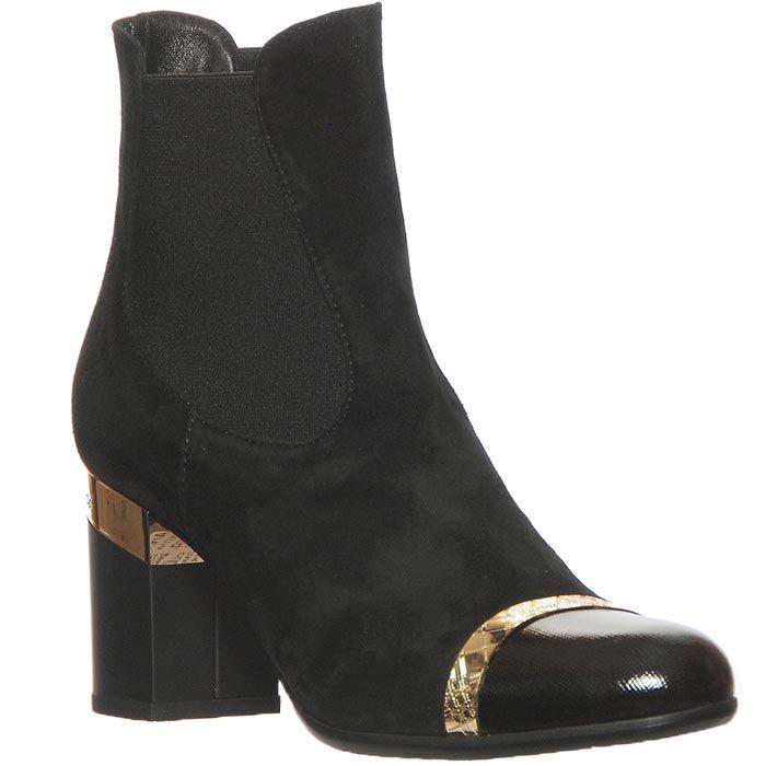 Демисизонные замшевые ботинки Marino Fabiani черного цвета