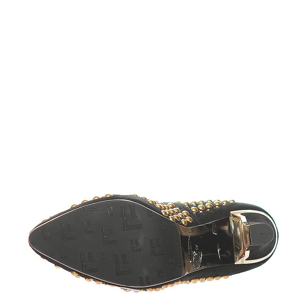 Замшевые туфли Marino Fabiani черного цвета