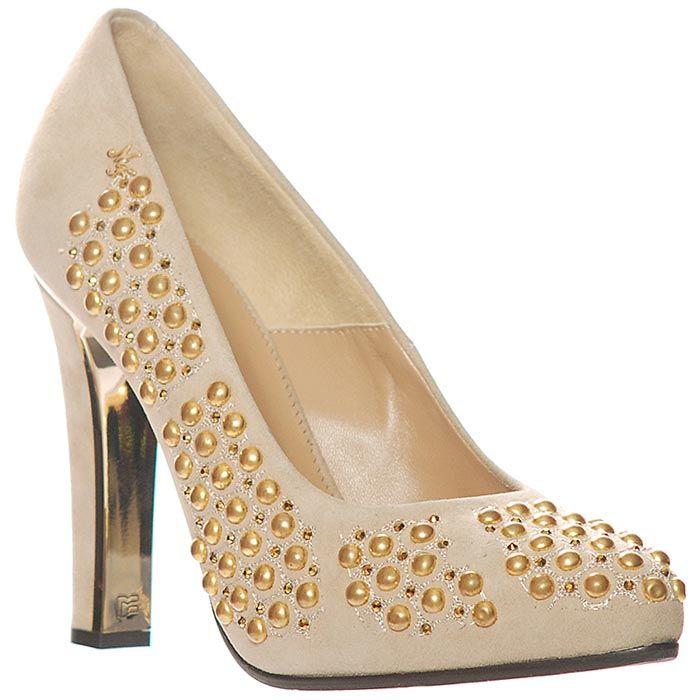 Замшевые туфли Marino Fabiani бежевого цвета
