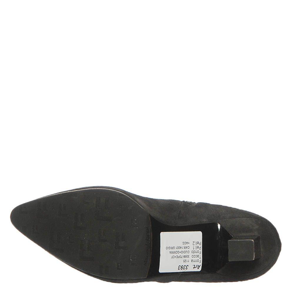 Замшевые демисезонные ботинки Marino Fabiani черного цвета