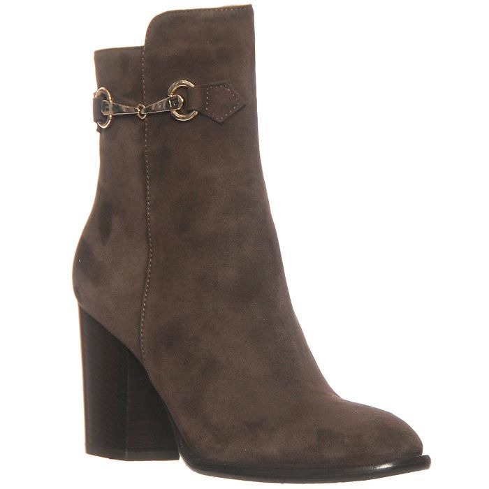 Демисезонные замшевые ботинки Marino Fabiani коричневого цвета