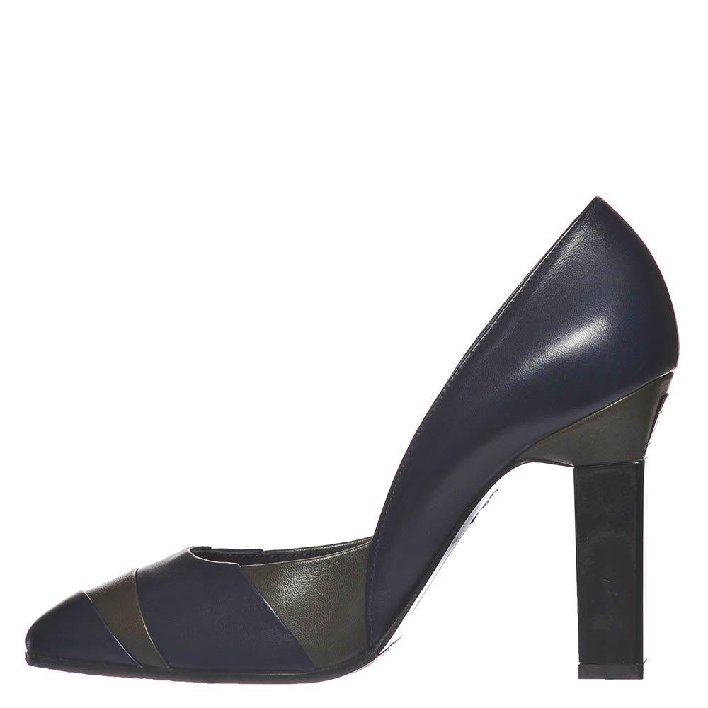 Кожаные туфли Marino Fabiani сине-зеленые