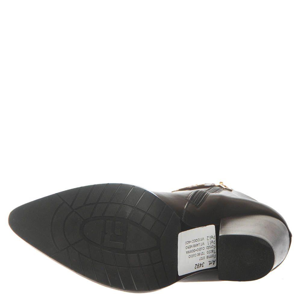 Ботинки Marino Fabiani из кожи черного цвета с коричневым носком