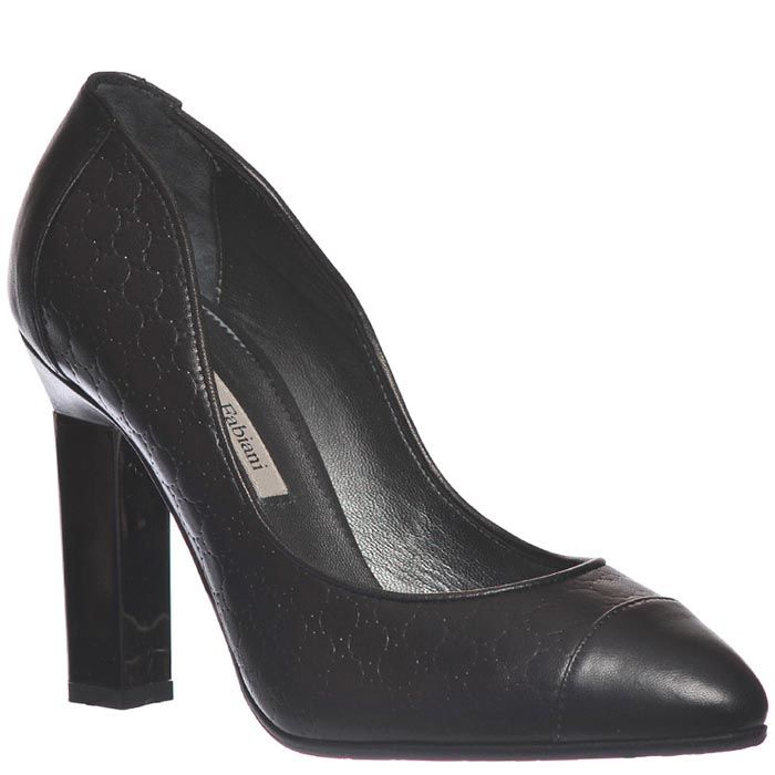 Туфли Marino Fabiani черного цвета из натуральной кожи