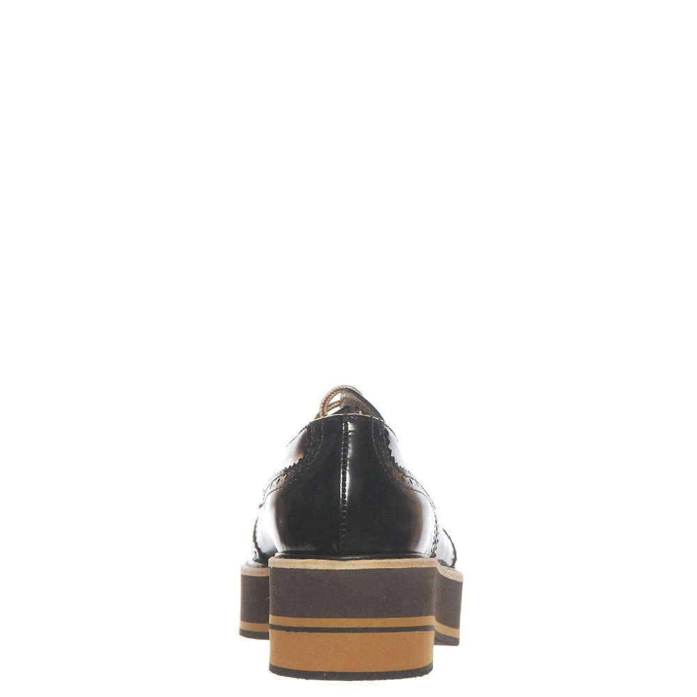 Туфли Marino Fabiani из натуральной кожи черного-коричневые