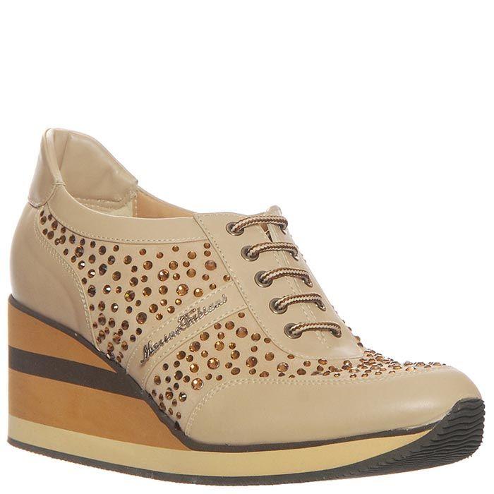 Кроссовки Marino Fabiani из натуральной кожи бежевые