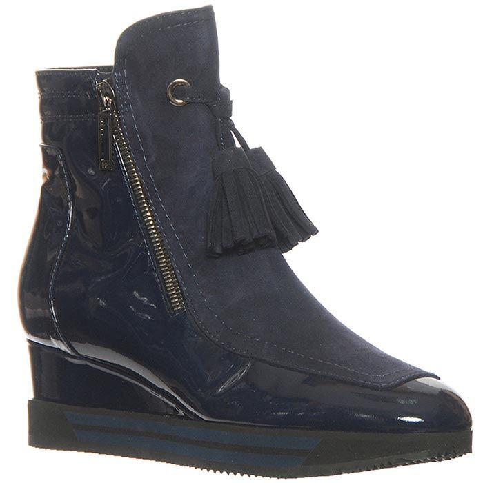Кожаные ботинки Marino Fabiani синего цвета
