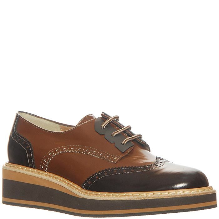 Кожаные туфли Marino Fabiani черно-коричневые