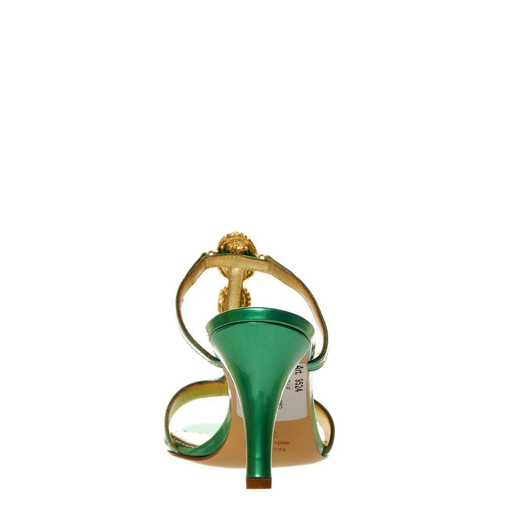 Мюли Marino Fabiani из натуральной кожи лаковые зеленого цвета