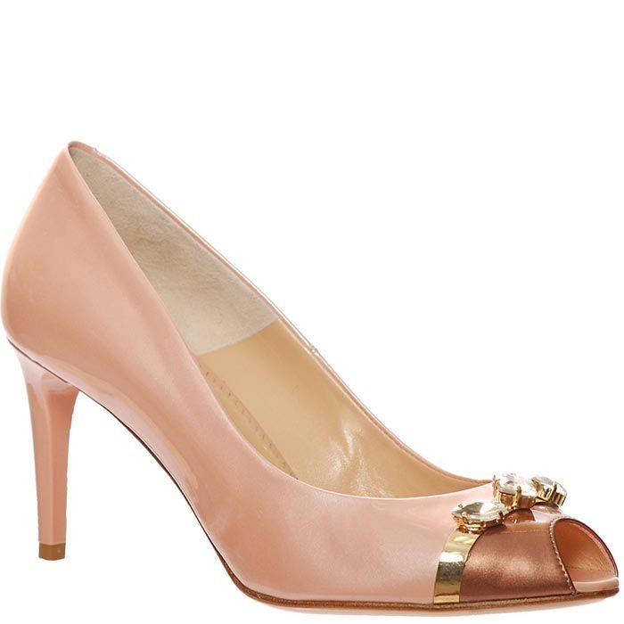 Туфли Marino Fabiani нежно-розового цвета с открытым носочком