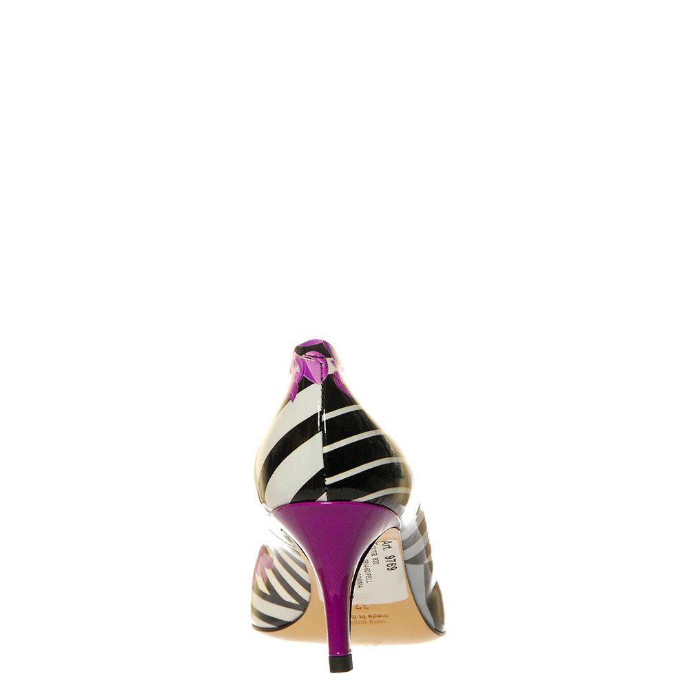 Кожаные туфли Marino Fabiani черно-фиолетовые
