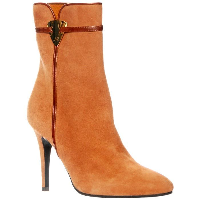 Замшевые ботинки Giorgio Fabiani горчичного цвета на молнии