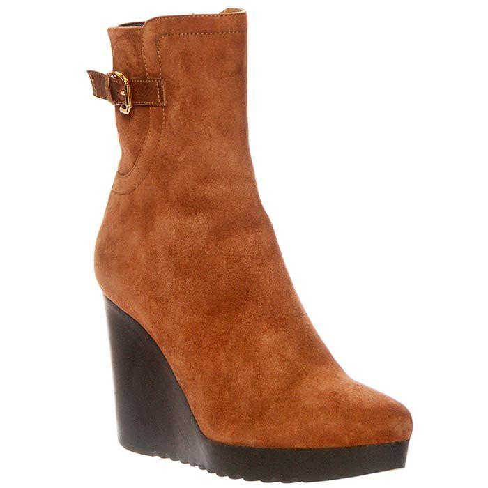 Замшевые ботинки Giorgio Fabiani коричневого цвета на молнии