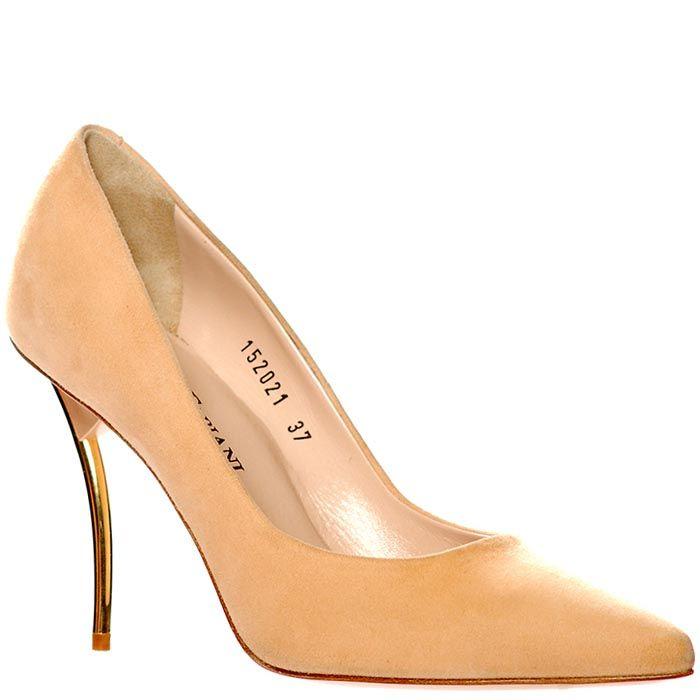 Замшевые туфли Giorgio Fabiani бежевого цвета