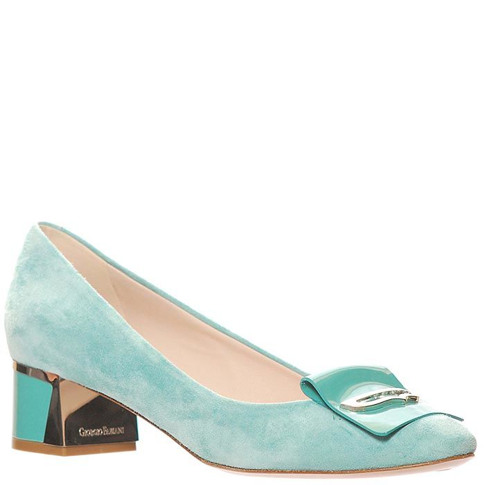 Замшевые туфли Giorgio Fabiani бирюзового цвета