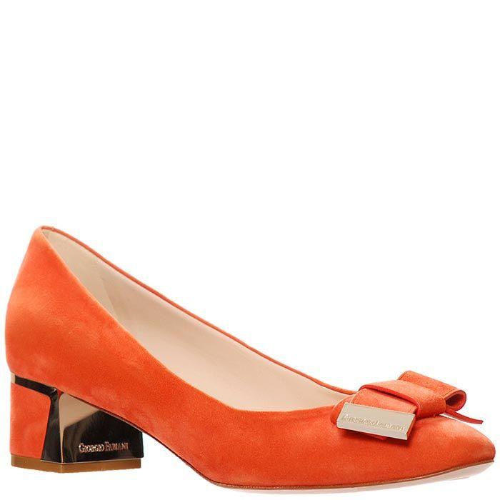 Замшевые туфли Giorgio Fabiani корралового цвета