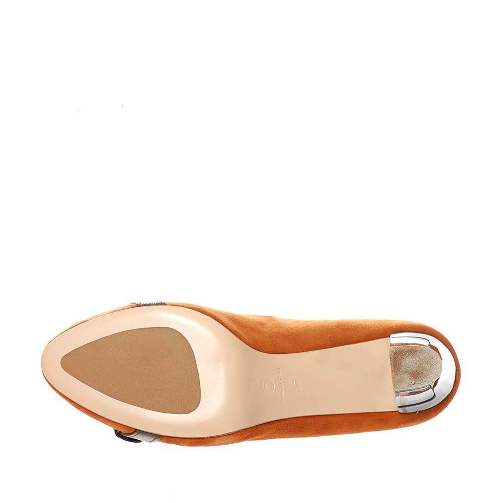 Замшевые туфли Giorgio Fabiani горчичного цвета