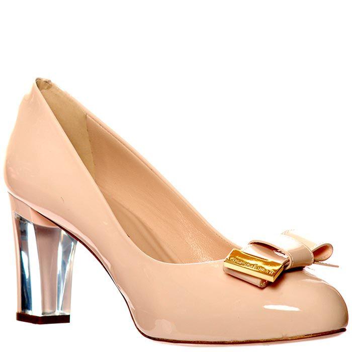 Кожаные туфли Giorgio Fabiani лаковые бежевого цвета