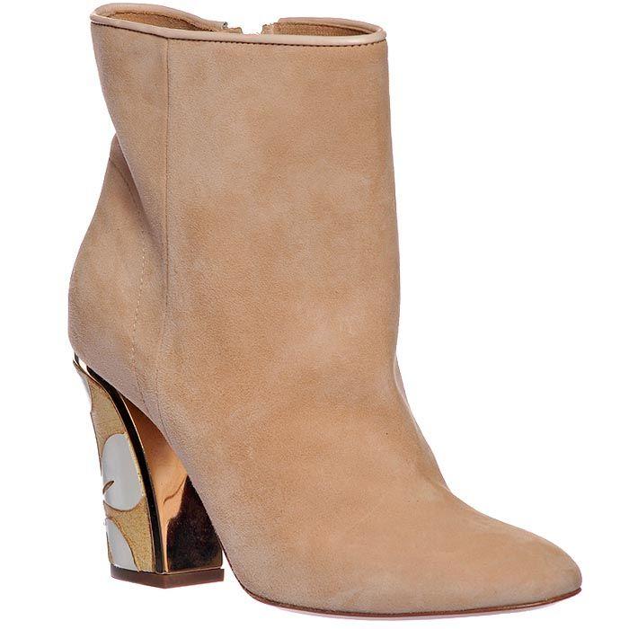 Замшевые ботинки Giorgio Fabiani розового цвета