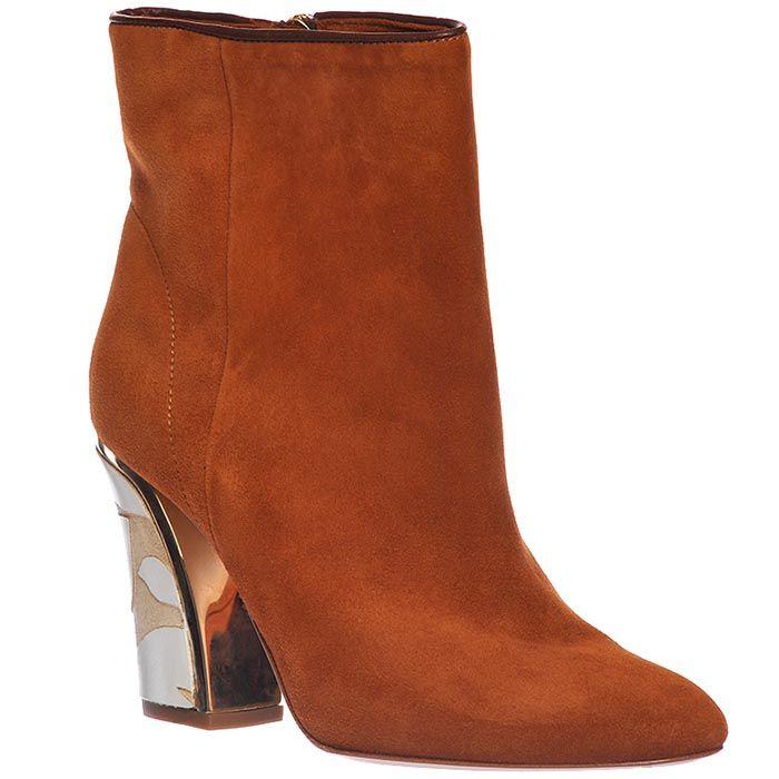 Замшевые ботинки Giorgio Fabiani горчичного цвета