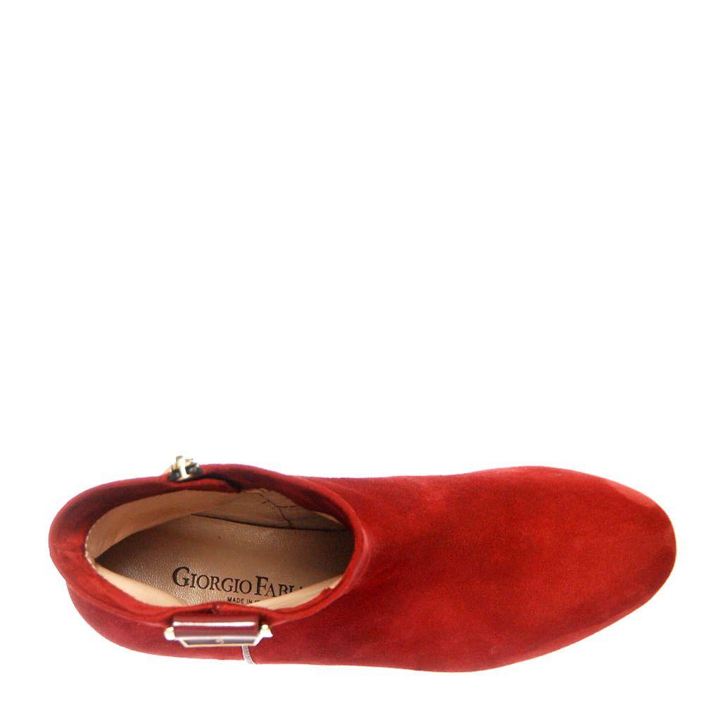 Замшевые ботинки Giorgio Fabiani красного цвета на молнии