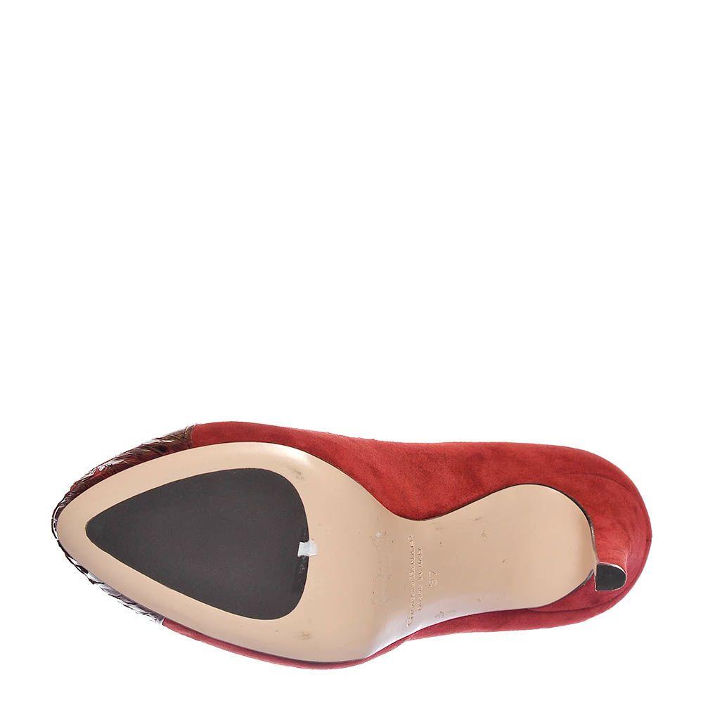 Замшевые туфли Giorgio Fabiani бордового цвета