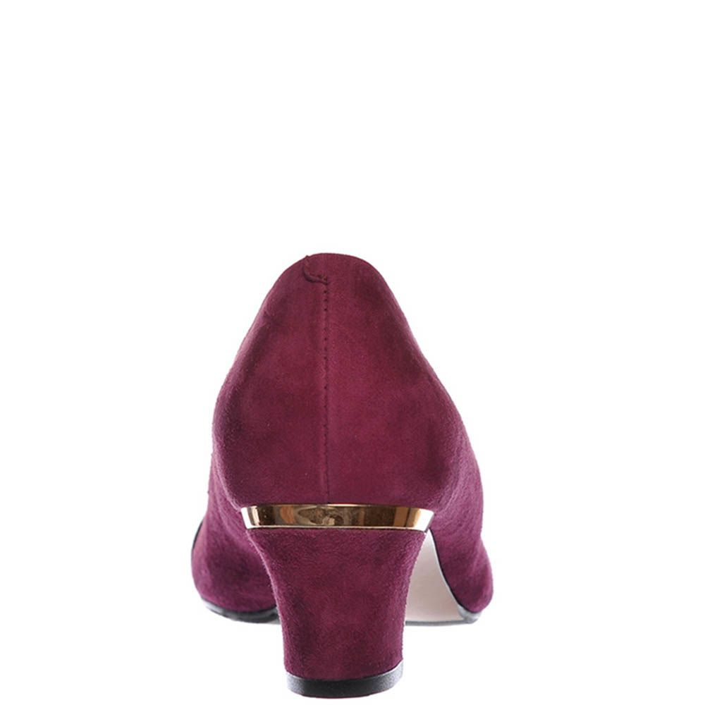 Замшевые туфли Giorgio Fabiani цвета марсала с крупной пряжкой на носочке