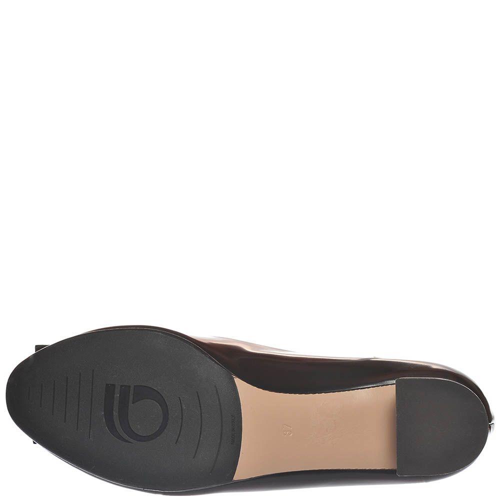 Туфли Giorgio Fabiani из полированной кожи темно-коричневого цвета