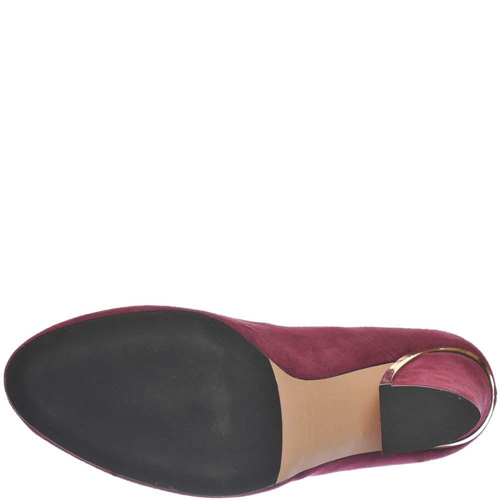 Женские туфли Giorgio Fabiani цвета марсала на высоком устойчивом каблуке