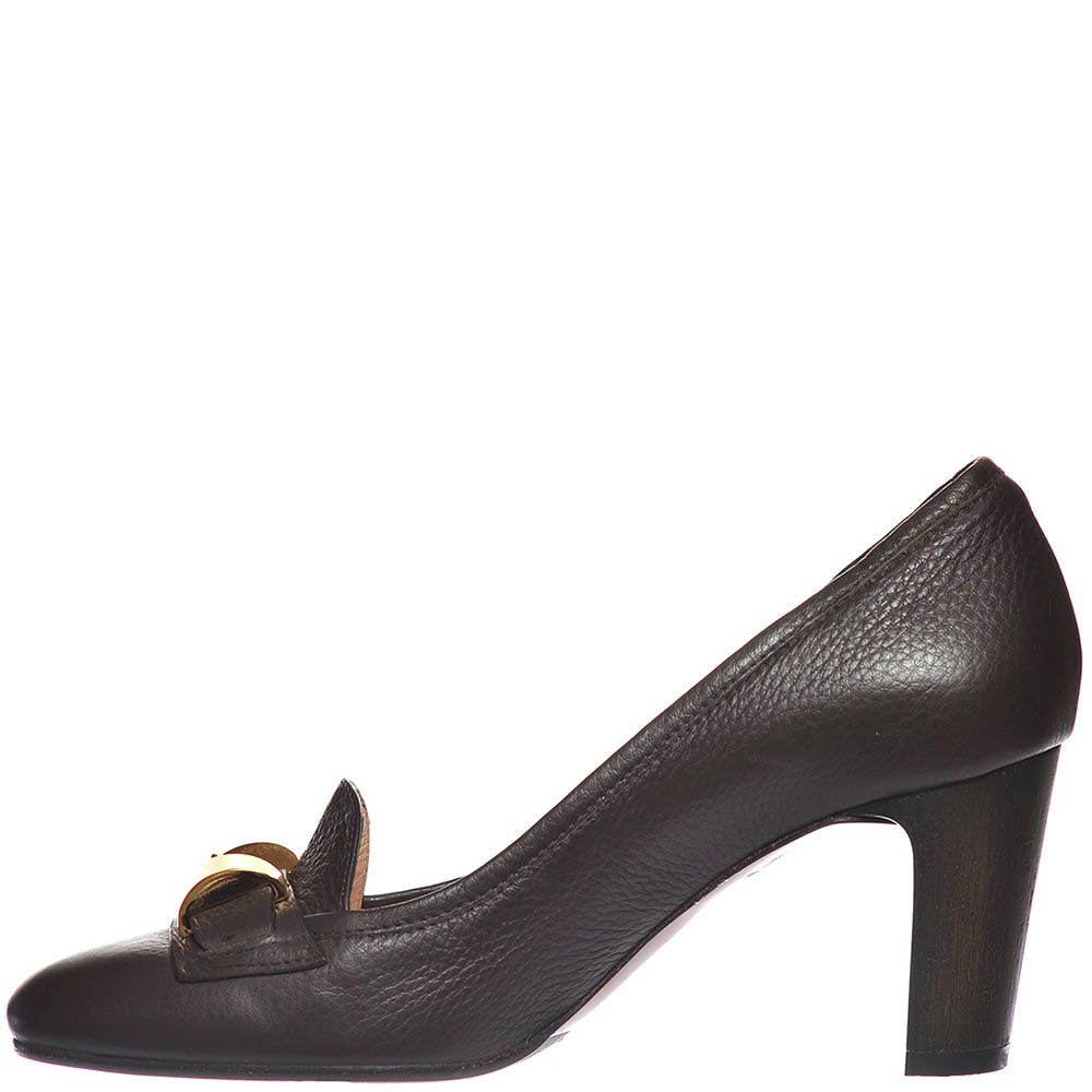 Туфли Giorgio Fabiani из крупнозернистой кожи темно-коричневого цвета