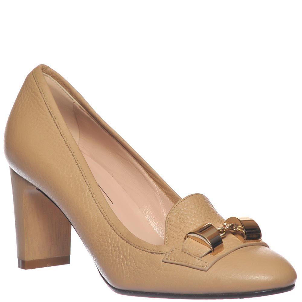 Туфли-лоферы Giorgio Fabiani из крупнозернистой кожи бежевого цвета