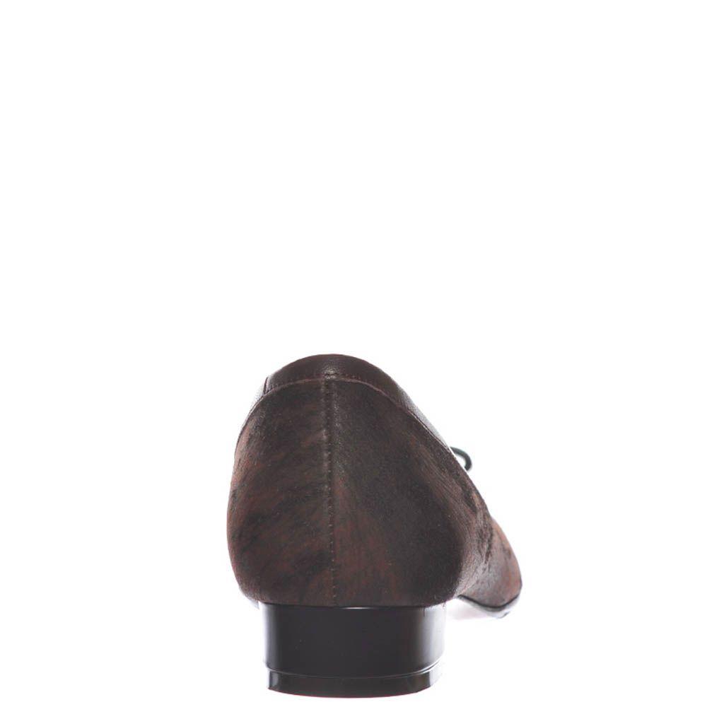 Замшевые туфли Giorgio Fabiani коричневого цвета и кожаным бантиком