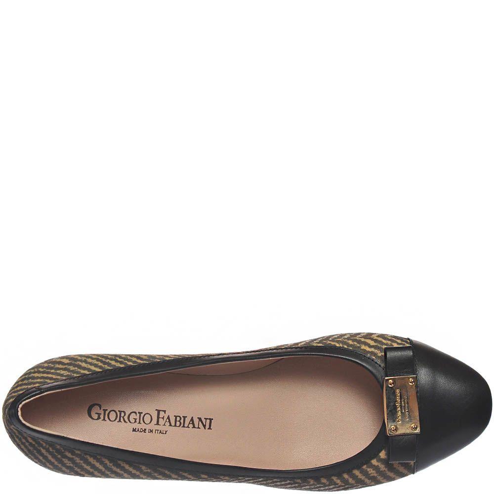Туфли Giorgio Fabiani с бежевым принтом и кожаным бантиком