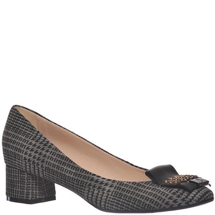 Туфли Giorgio Fabiani серые с черным орнаментом
