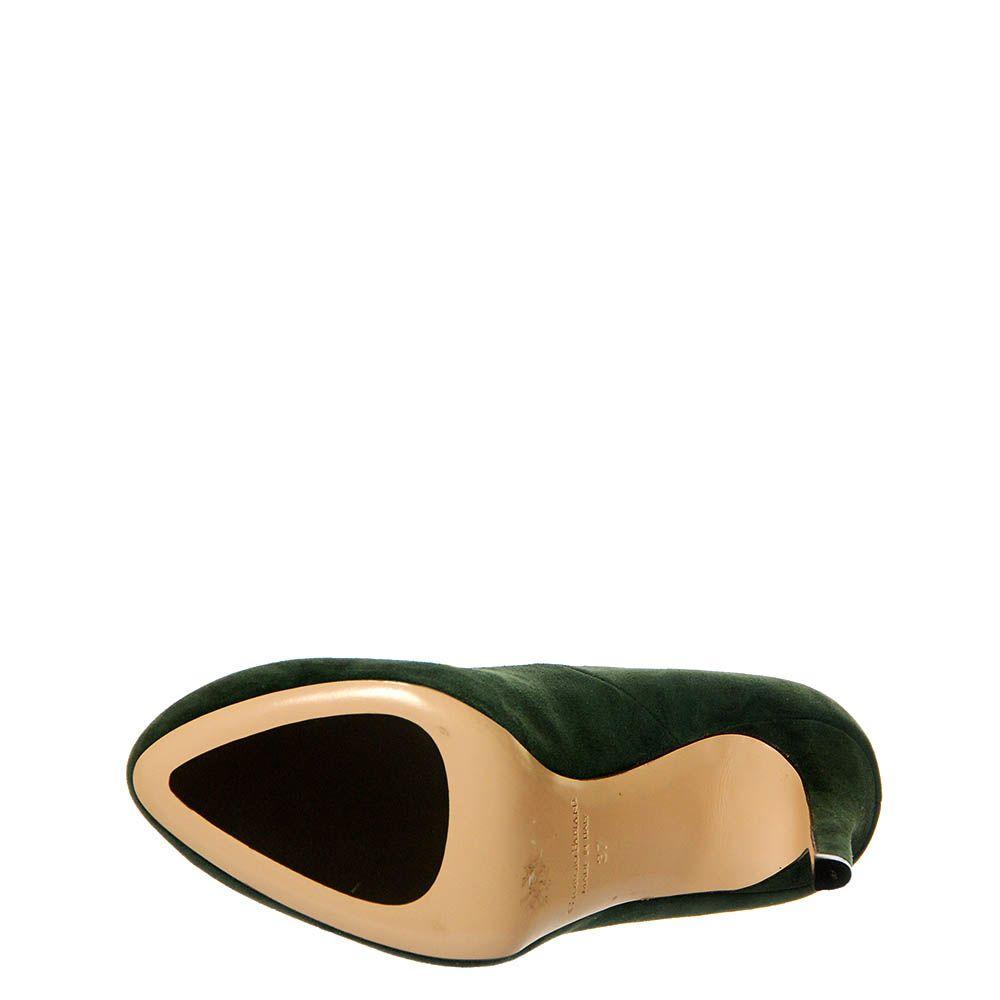 Замшевые туфли Giorgio Fabiani зеленого цвета