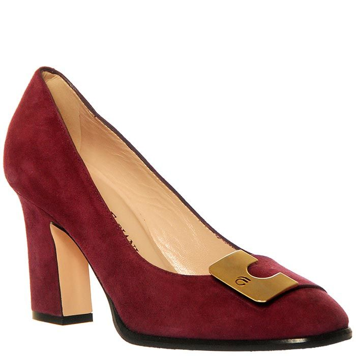 Замшевые туфли Giorgio Fabiani сиреневого цвета