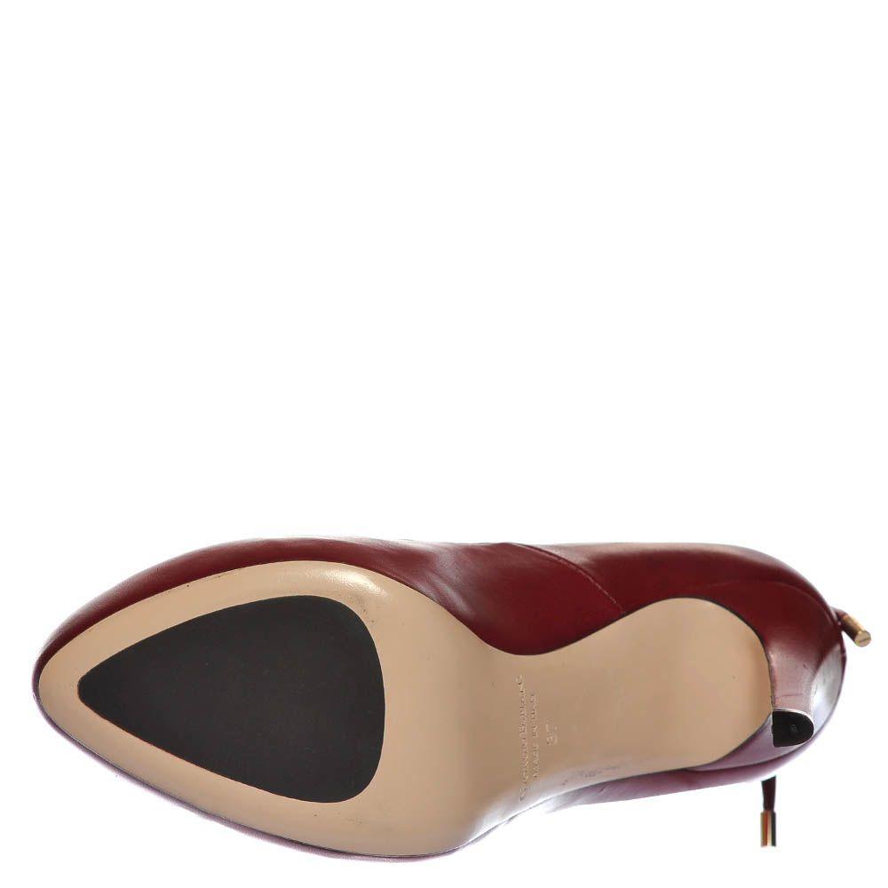 Туфли Giorgio Fabiani из кожи бордового цвета