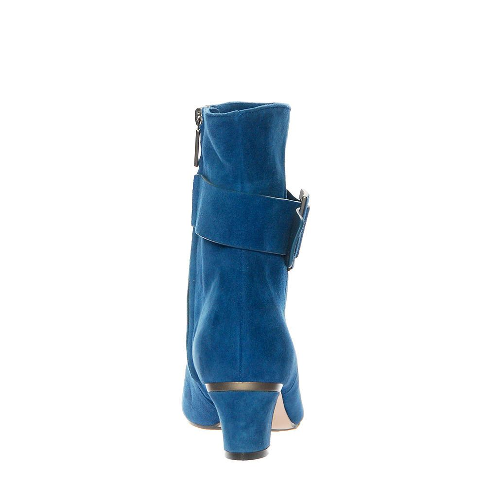 Замшевые ботинки Giorgio Fabiani синего цвета на молнии