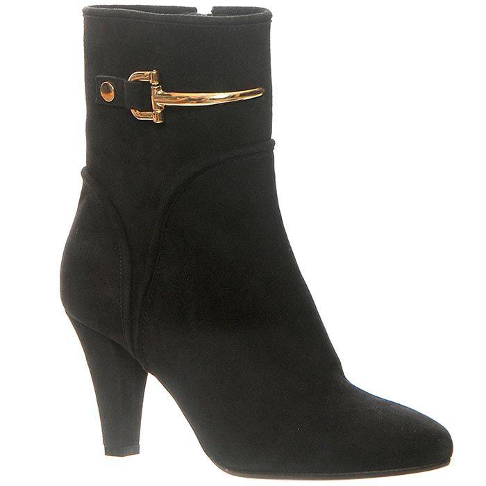 Замшевые ботинки Giorgio Fabiani черного цвета на молнии